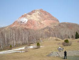 【有珠山噴火でできた山/昭和新山】写真